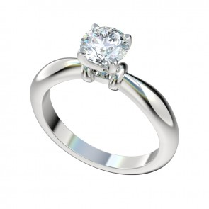 Sculptural Solitaire Engagement Ring with Peg Head