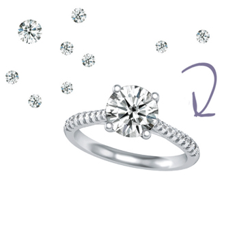 add side diamonds to a solitaire