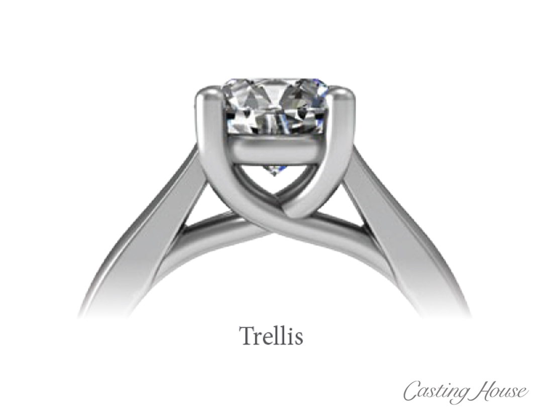 Ring Gallery and Center Setting Styles trellis
