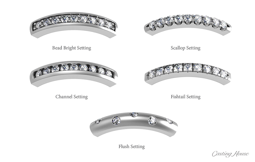 Melee Diamond Jewelry And Setting Styles