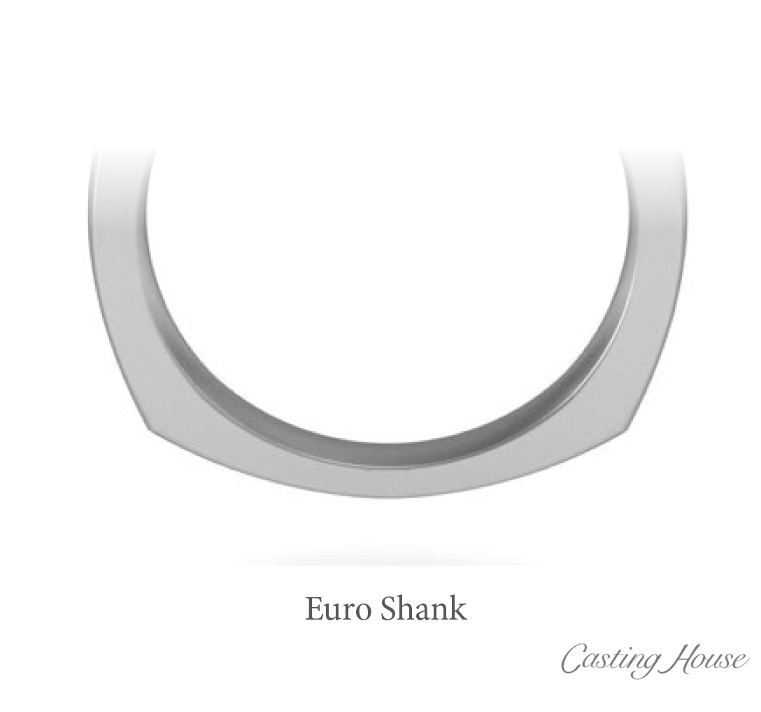 Euro shank ring design