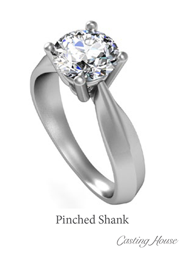 pinched shank ring design