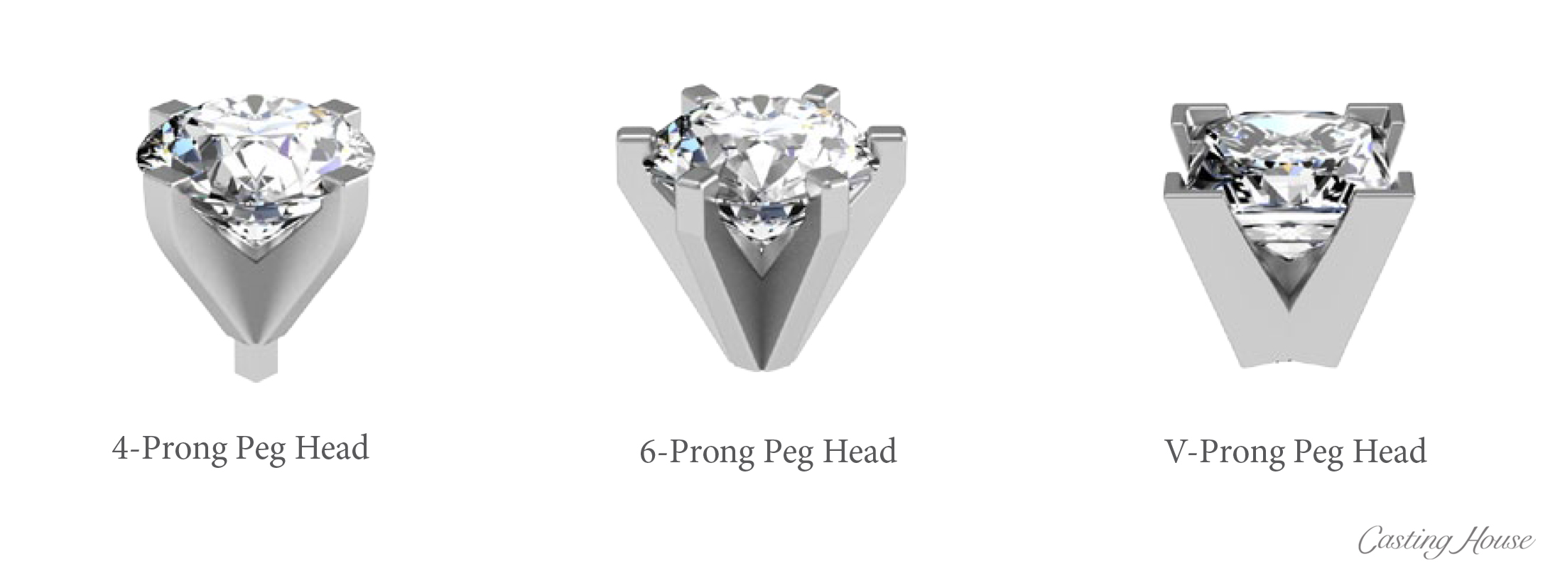 Ring Gallery and Center Setting Styles Peg