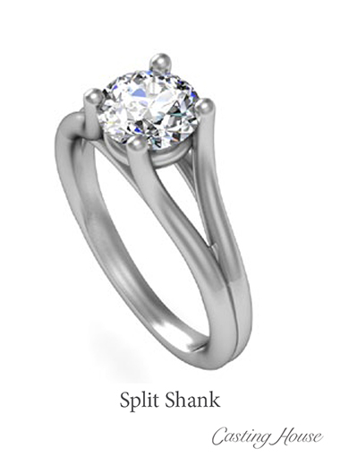 split shank ring design